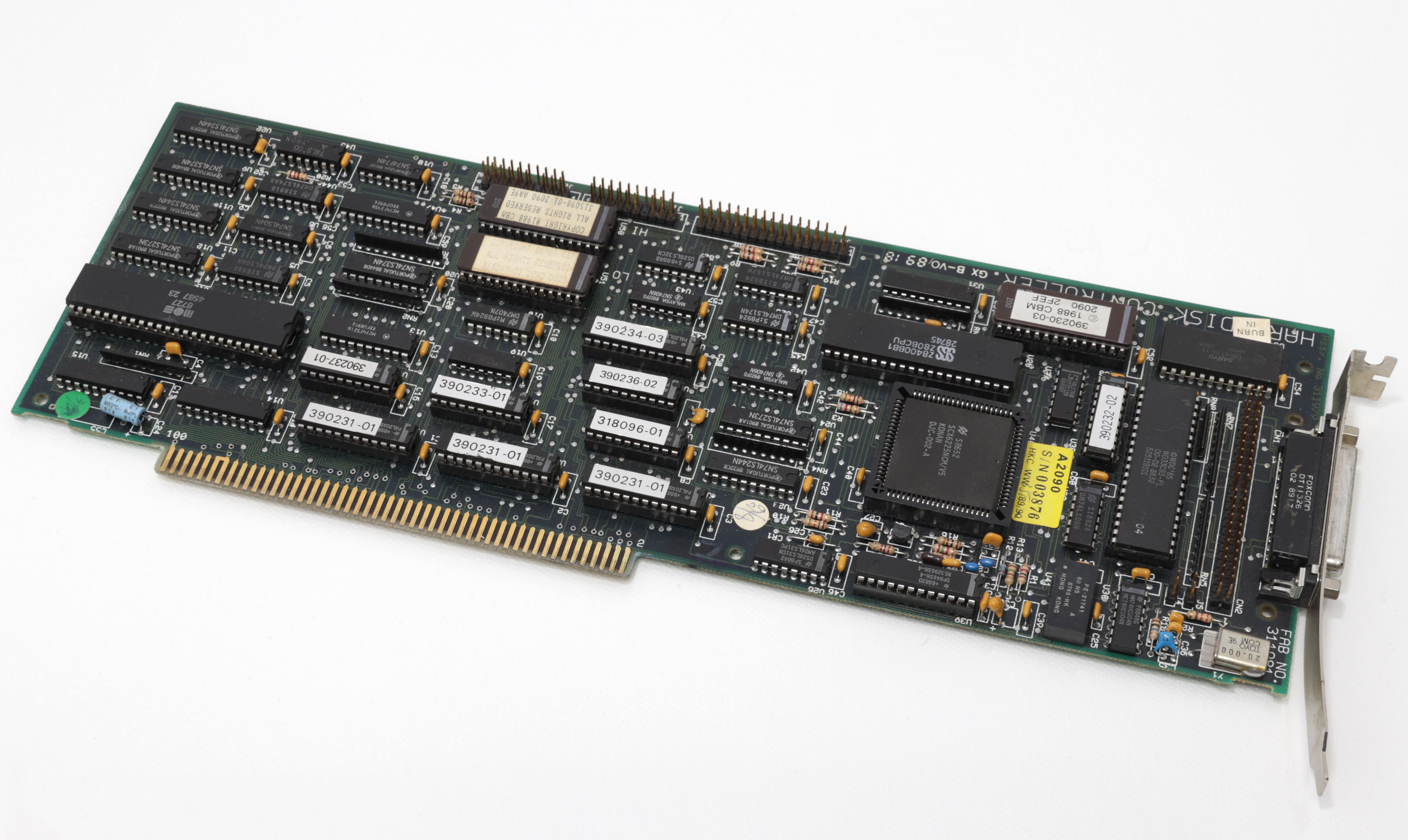 Commodore A2090A - SCSI és MFM merevlemez vezérlő