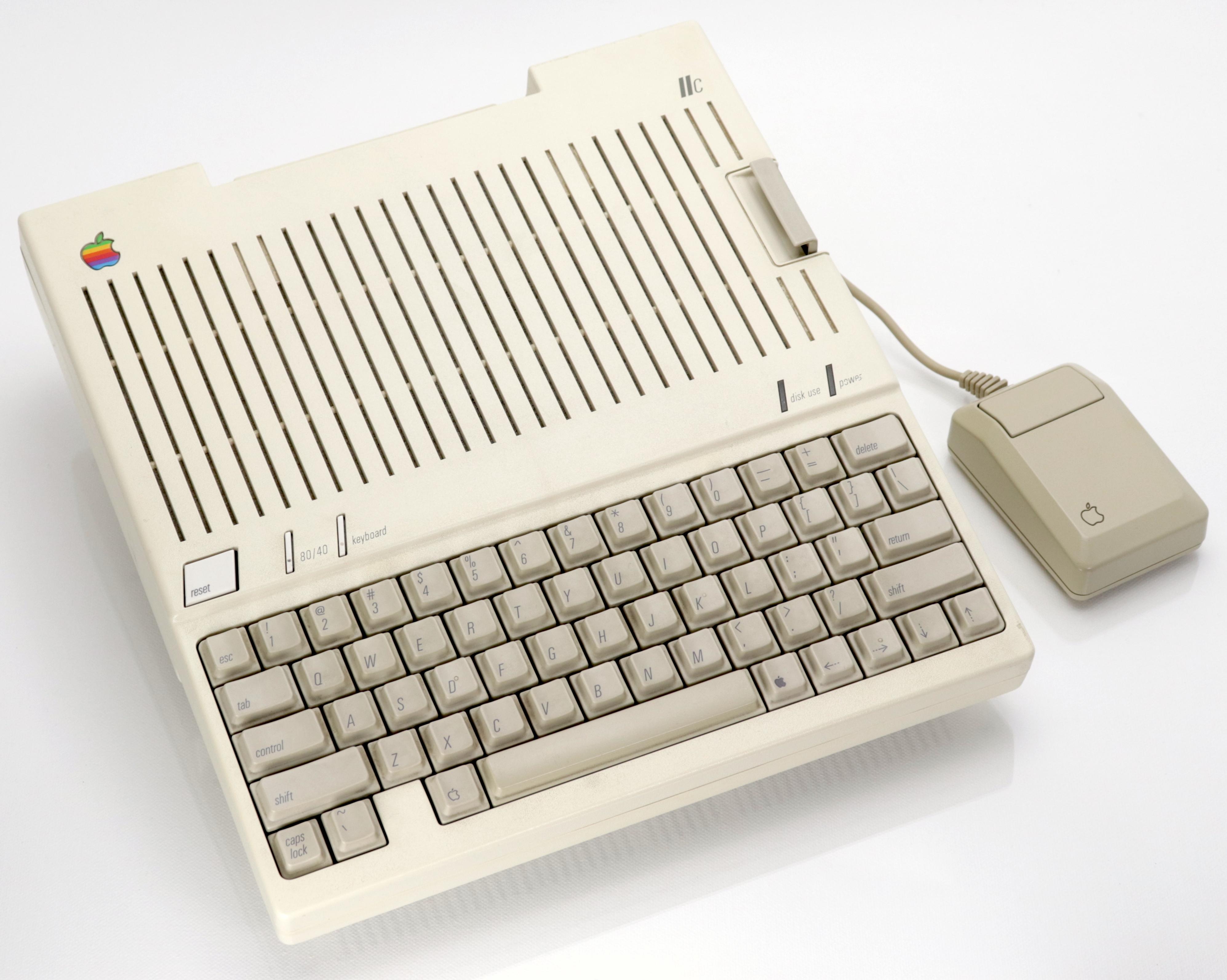 Apple IIc egérrel