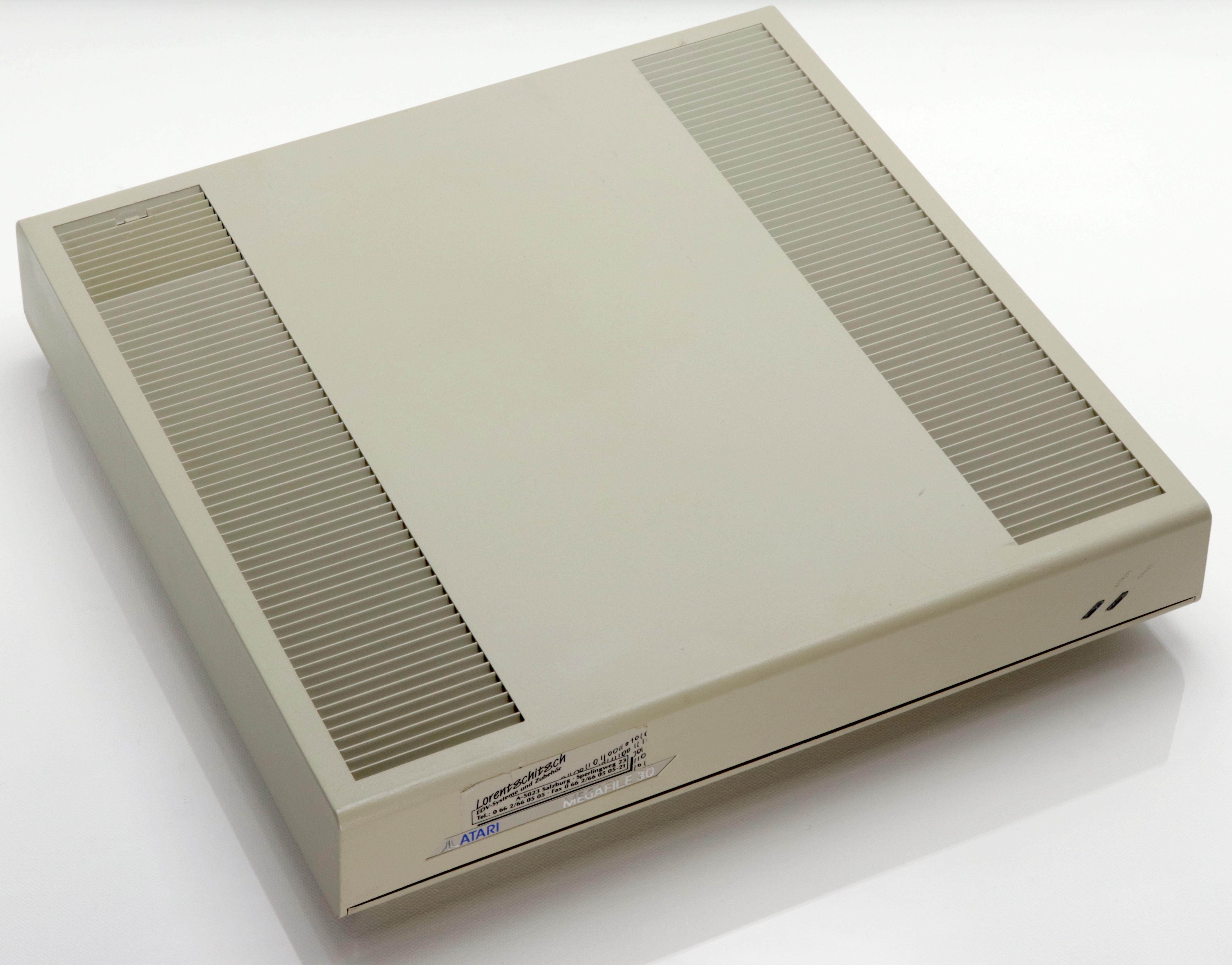 Atari Megafile 30 felülről