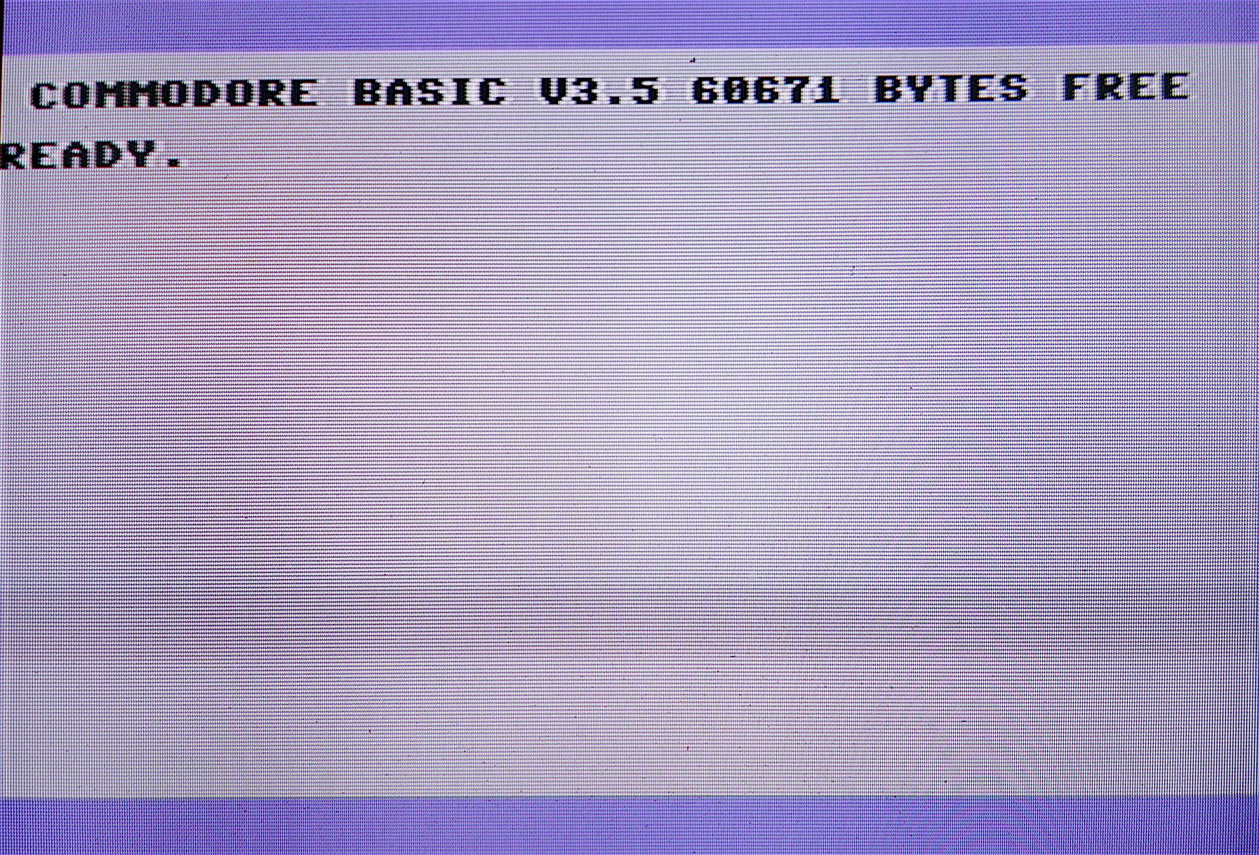 C16 bejelentkező képernyő 64k-ra bővítve