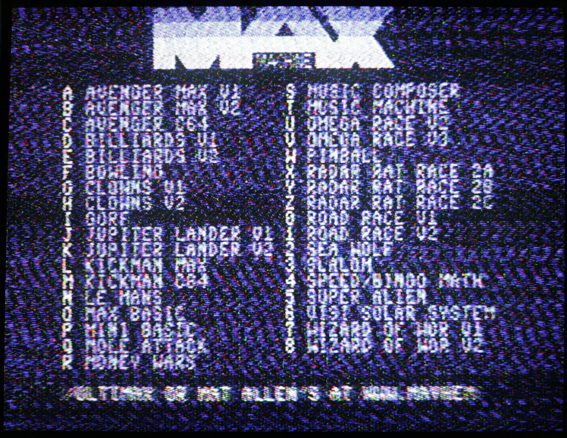 Commodore MAX - RF kimenet képe