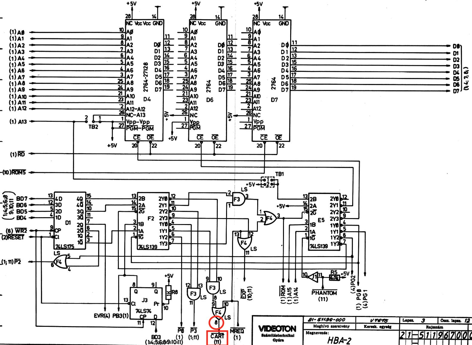 TVC RAM lapozó áramkör