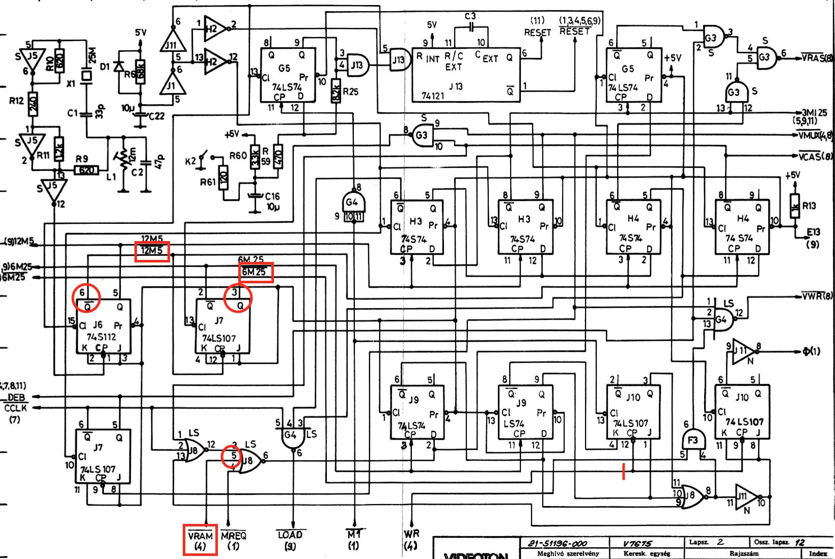 TVC órajel áramkör