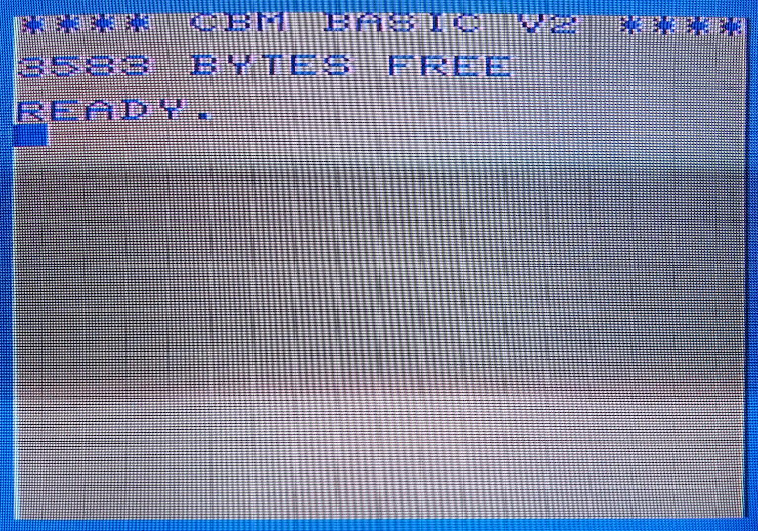 VIC-20 bejelentkező képernyő