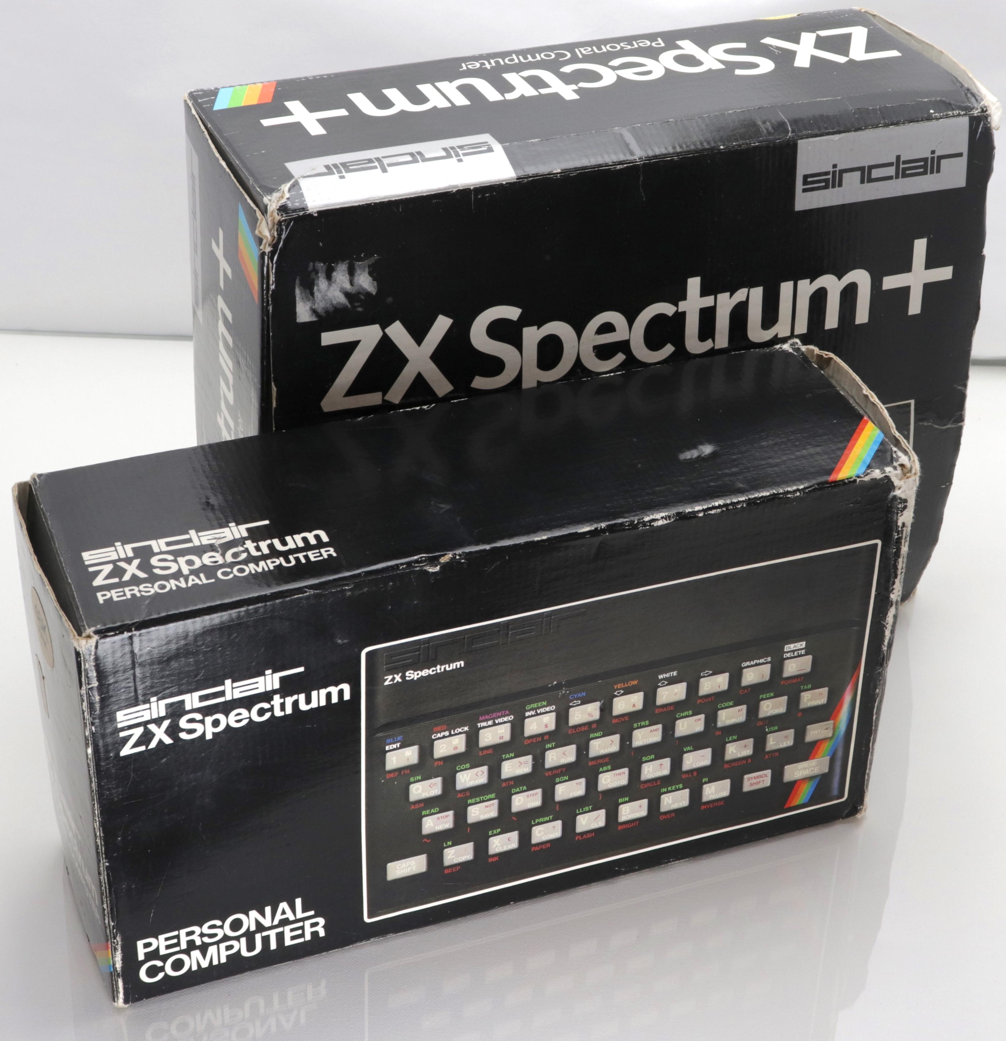 Spectrum és + dobozok