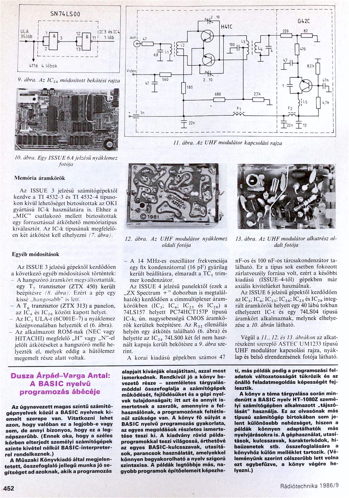 Rádiótechnika Spectrum+ 3. oldal