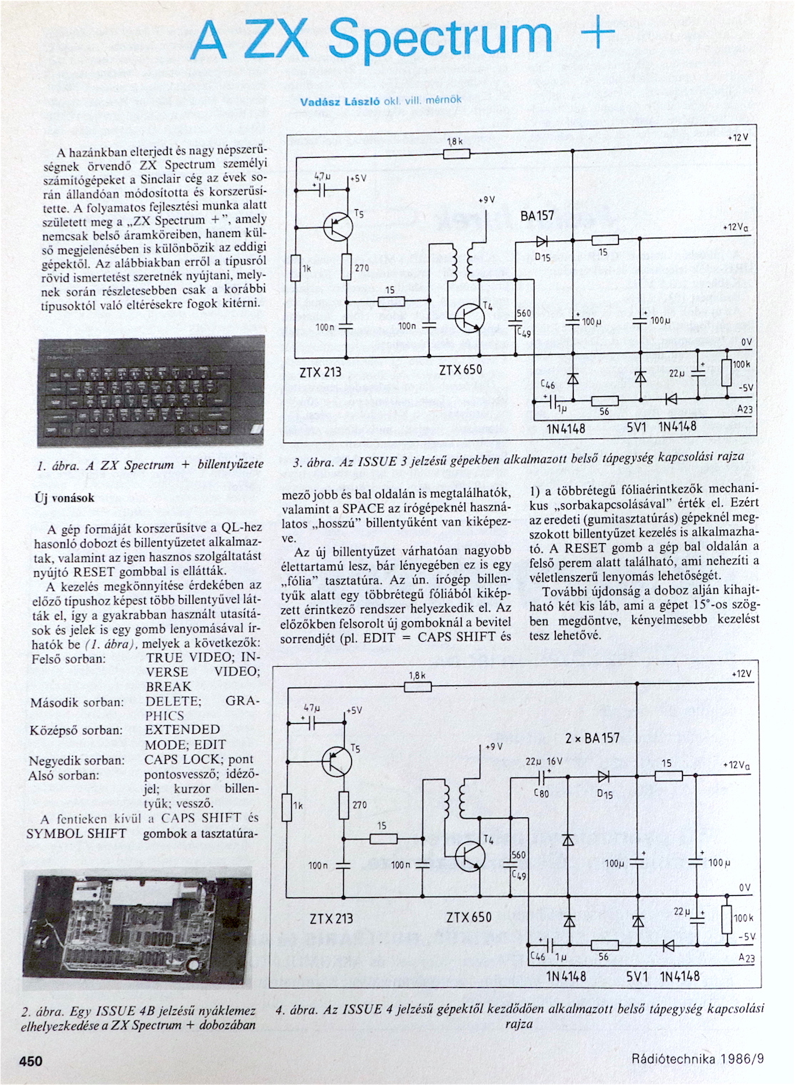 Rádiótechnika Spectrum+ 1. oldal